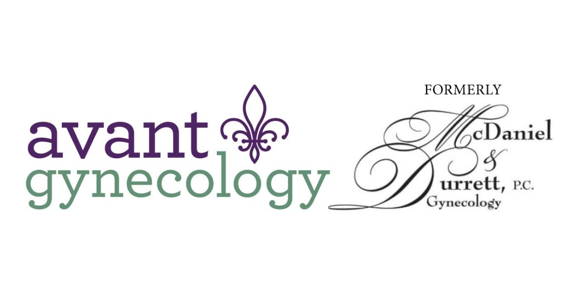 Avant Gynecology logo before and after
