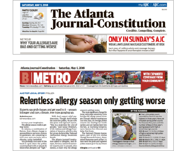 Examples of Atlanta Allergy & Asthma mentioned on the Atlanta Journal-Constitution newspaper.