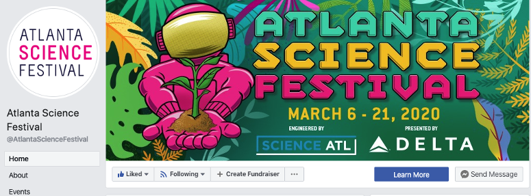 Screenshot of ASF Facebook cover photo.