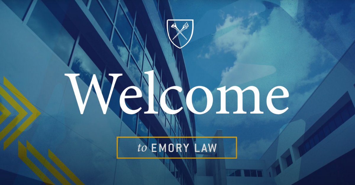 Screenshot of the Emory law video Lenz produced.