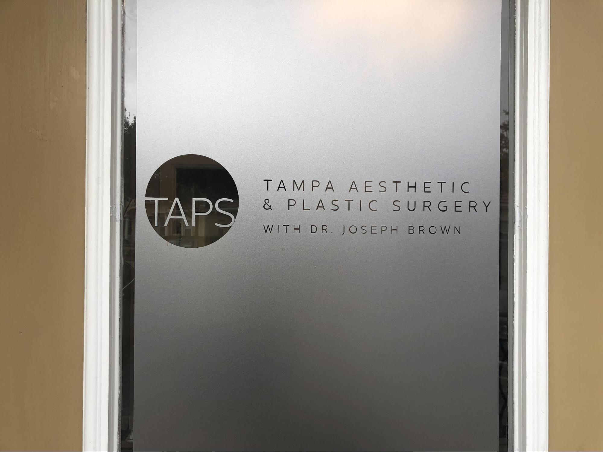 Photo of TAPS office's doors.
