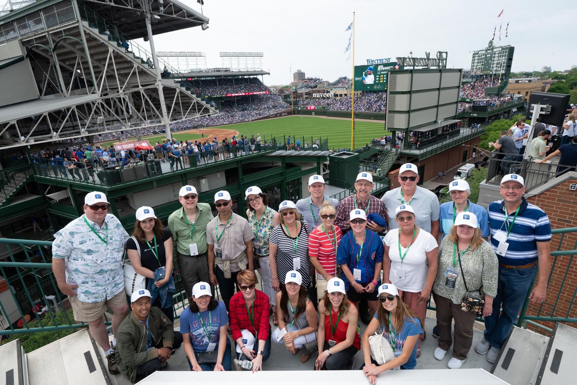 Photo of Preferred Podiatry Group at a baseball game.
