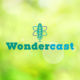 Graphic featuring Science ATL's Wondercast logo