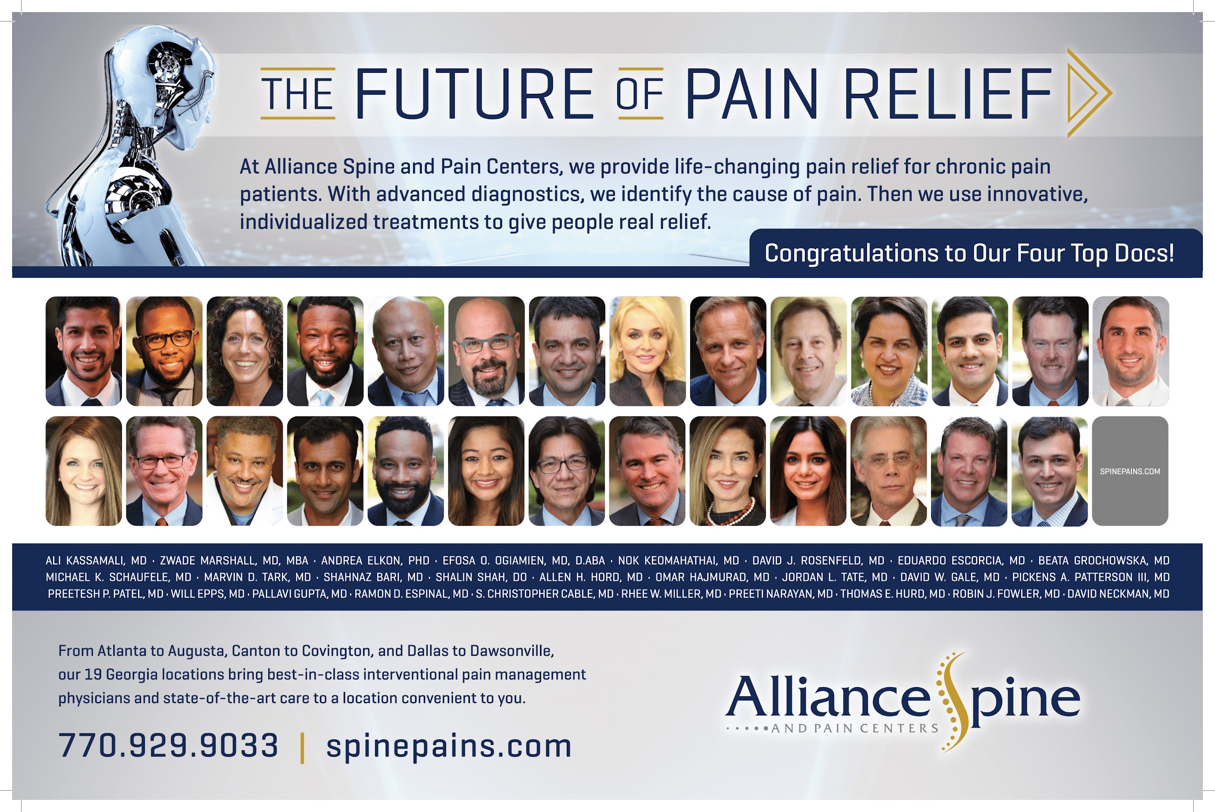 Screenshot of Alliance Advertisement for Top Docs