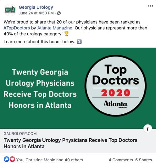 Screenshot of GU Top Doc Social Posty