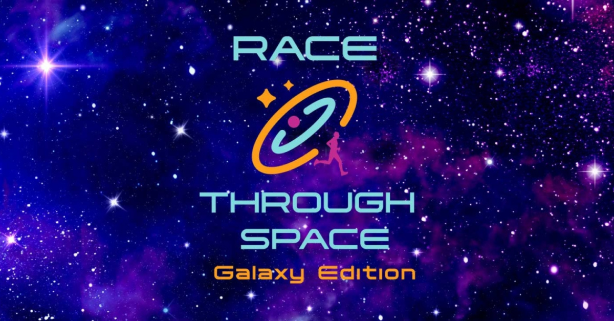 Race Through Space logo and graphic.